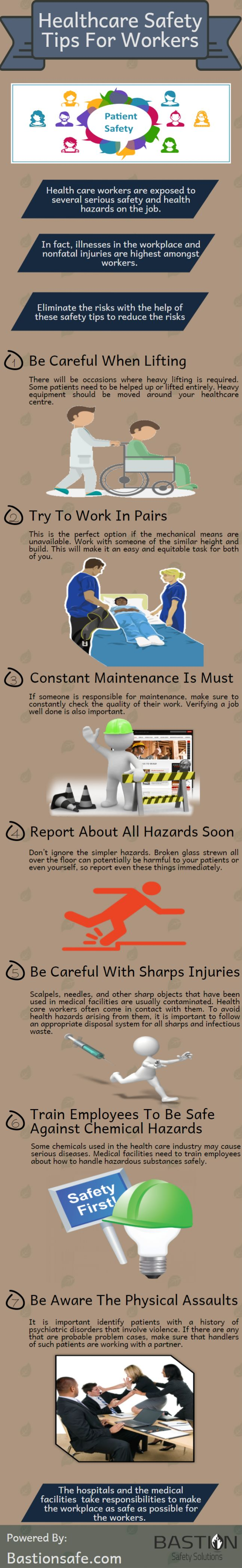 Healthcare safety tips for workers