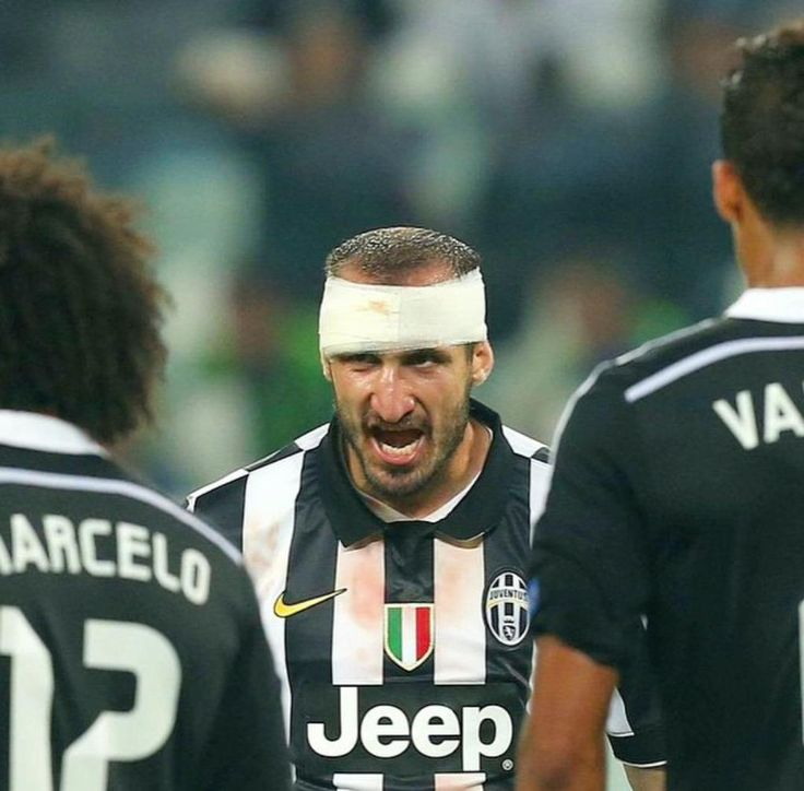Chiellini Juventus vs Real Madrid