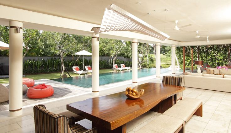 Villa Dewi Sri Bali Dining Area   http://prestigebalivillas.com/bali_villas/villa_dewi_sri/20/