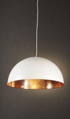 Alfresco Dome White Copper Ceiling Lamp