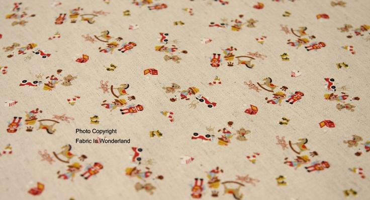 Pinocchio fabric, from Kokka Japan