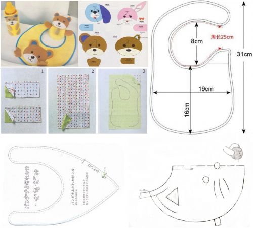 оригинальные слюнявчики для малышей, выкройки для детей, шьем детям необходимые мелочи, мастер-класс, мк, МК, выкройки