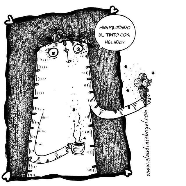 🍦☕=❤ . . . #illustration #gatos #drawing #inkonpaper #catsofinstagram #graphic #coffee #cats #catslover #sketchbook #doodles #artist #instaart #handdraw #love #amordegatos #modernart #pendrawing #instartist #icecrem #comic #artoftheday #instaillustration #artcollector #bogotart #artofinstagram #Instagram #bnw #creative #inkdrawing