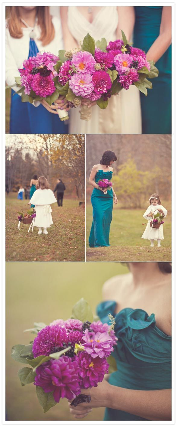 pretty colors for fall/winter wedding