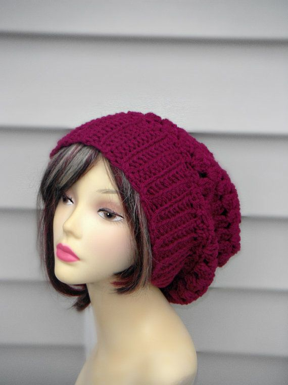 Crochet Slouchy Hat Womens Beanie Hat Womens Accessories Winter Accessories Choose your color