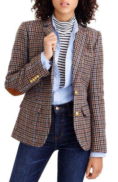 J.Crew Rhodes Houndstooth Wool Blazer (Regular & Petite) available at #Nordstrom