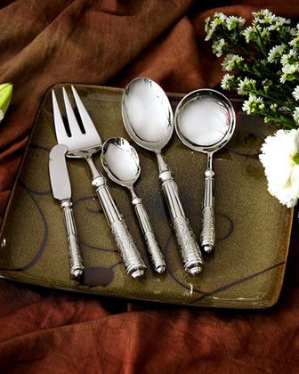 Ricci Silversmiths Five-Piece Amalfi Hostess Set - traditional - flatware - Horchow