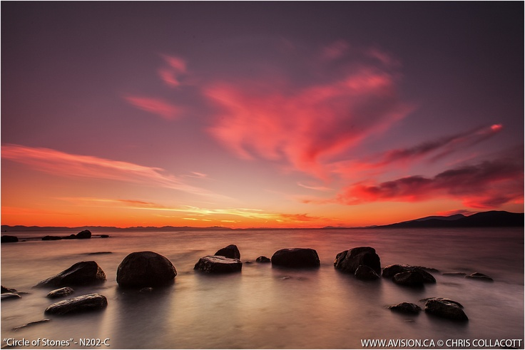 #sunset #landscape at wreck beach, vancouver bc Canada