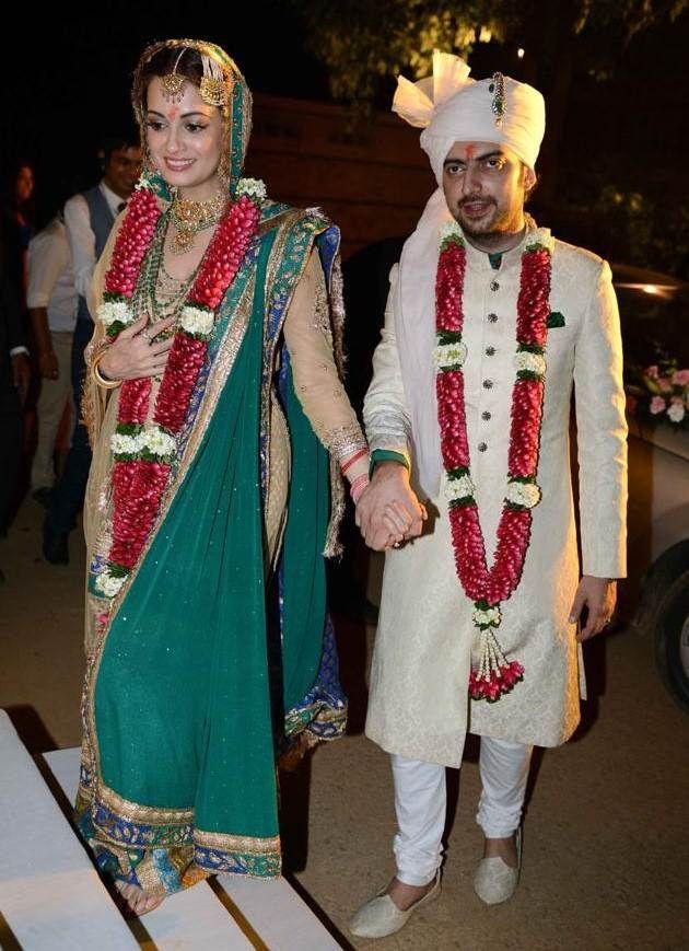 Dia Mizra weds Sahil Sangha