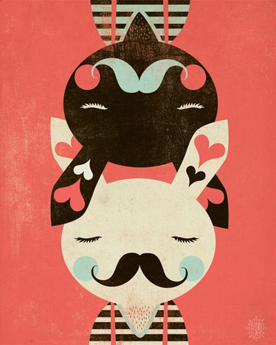 bunny love.: Andrew Bannecker, Friends, Daughters Room, Kids Room, Grey Wall, Prints, Bunnies, Retro Style, Art Illustration