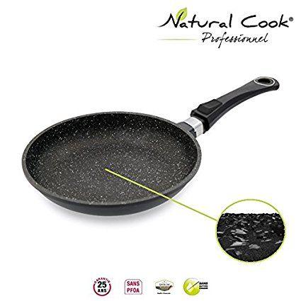 Poêle en pierre granité et céramique - tous feux dont induction - Natural Cook Professionnel