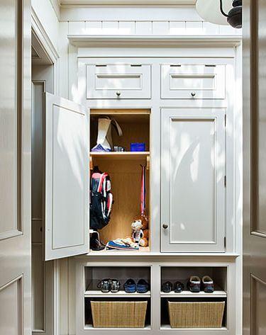 mudroom cabinets + skylight