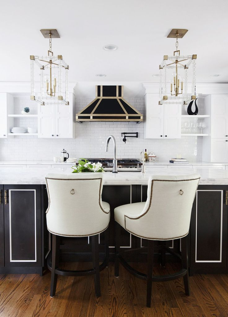 The New Kitchen Trends We Can't Wait to Adopt. White CabinetsBrass KitchenNew  KitchenArt Deco ...