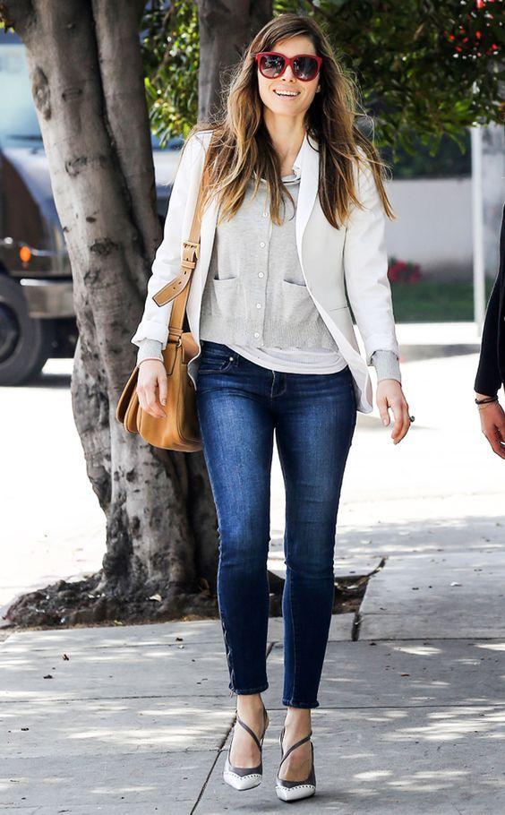 #JessicaBiel v sproščeni dnevni obleki! #jopa #kavbojke