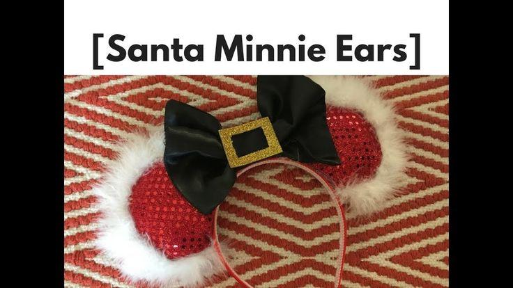 DIY No Sew Christmas Santa Minnie Mickey Mouse Ears Headband