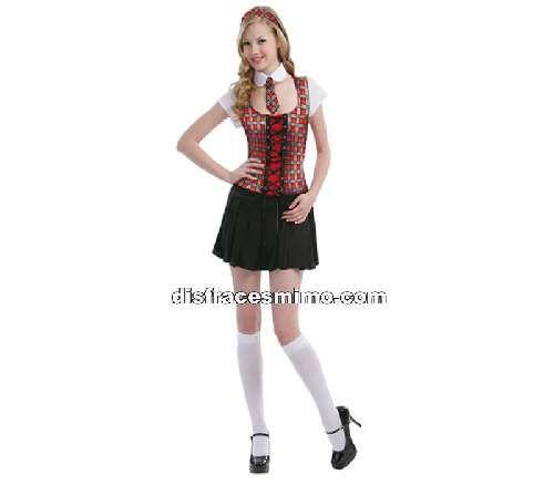 Tu mejor disfraz de colegiala roja adulto para mujer bt 3423.Siéntete como una jovencita estudiante con este gracioso Disfraz de Colegiala para mujer que te hará triunfar en Fiestas de Disfraces, Despedidas de soltera o Carnavales.