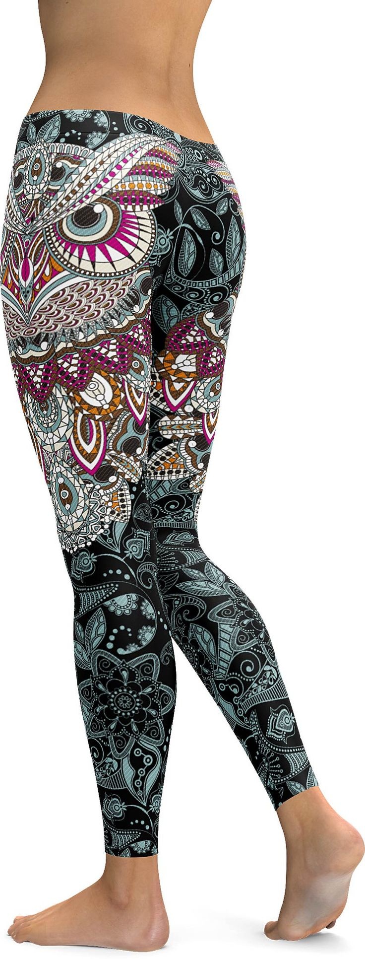 In case you need a versatile fashion piece that will carry you from casual daytime to dressier evening looks, you should definitely go for our Ornamental Owl Leggings. They feature a gorgeous all over