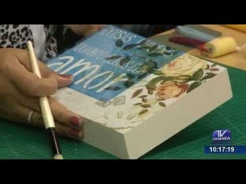 Programa Artesanato sem Segredo (24/08/15) - Scrapdecor com stencil