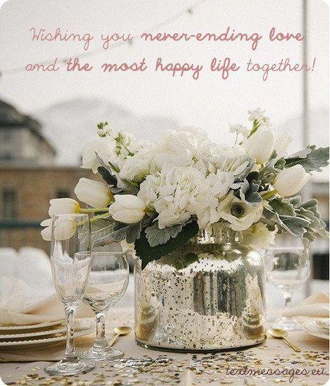 Short Wedding Wishes - Braut