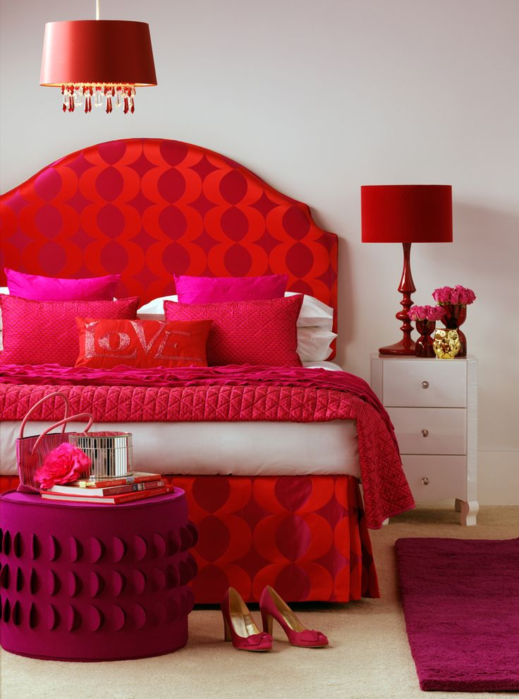 Attractive Red Bedroom Decorating Ideas Part - 3: 20 Colors That Jive Well With Red Rooms. Red Bedroom DecorBedroom IdeasRed  ...