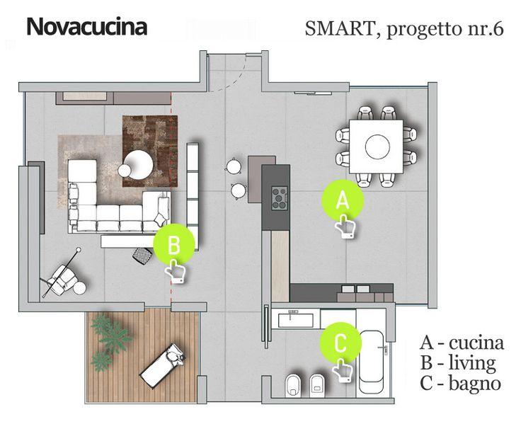 Progetto SMART nr.6 - Pianta #home #project #architecture #design #arredamento