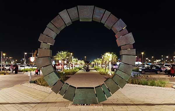 Keystone Torus public art at Doha Festival City