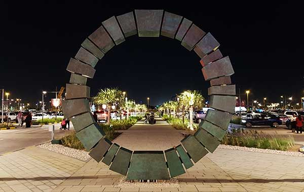 Keystone Torus public art at Doha Festival City