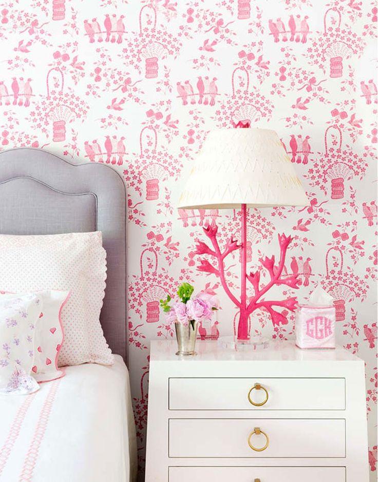 Pink Wallpaper For Girls Bedroom