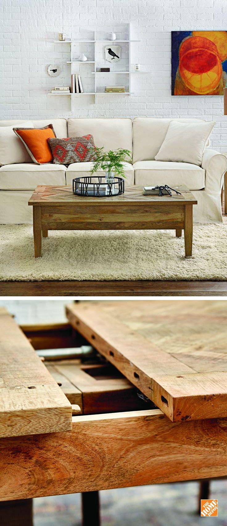 Home Decorators Collection Parquetry Natural Coffee Table