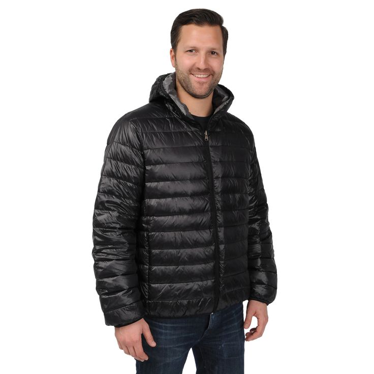 Excelled Men S Packable Down Filled Puffer Jacket