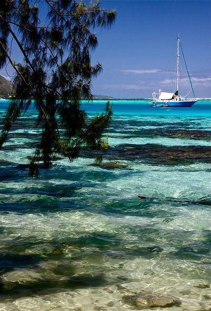 Moorea Island - Tahiti   by p.lenedic..Sailing + Lagoon