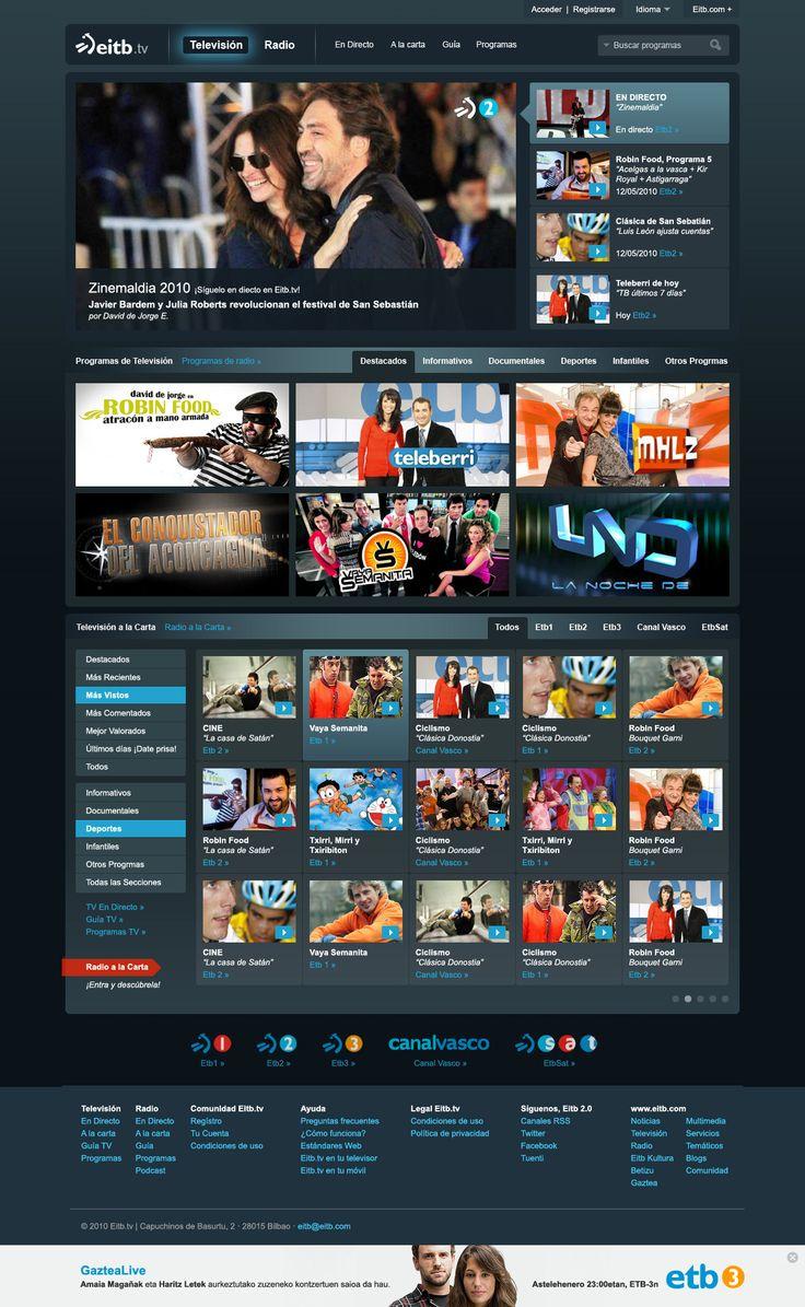 http://www.zorraquino.com/proyectos/diseno-web/nahieran-eitb-alacarta.html Propuesta de diseño para Eitb.tv | Eitb a la carta (Bilbao, 2010) #branding #bilbao #design #web #ui #eitb #etb #nahieran #alacarta #tv #digital #basque #euskadi