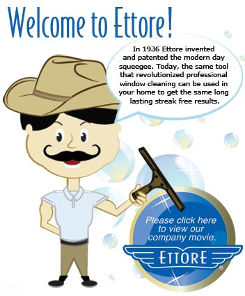 Consumers » Ettore – Squeegees, Professional Window Cleaning Tools, and Accessories