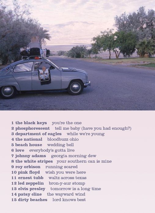 Road trip playlist, can't wait to go on some this summer