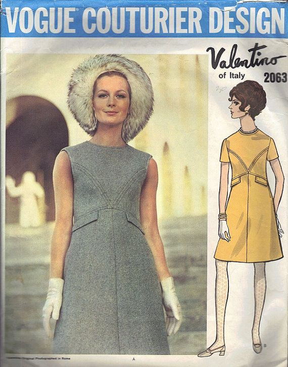 1960s Vogue Couturier Design Sewing Pattern by AdeleBeeAnnPatterns, $35.00