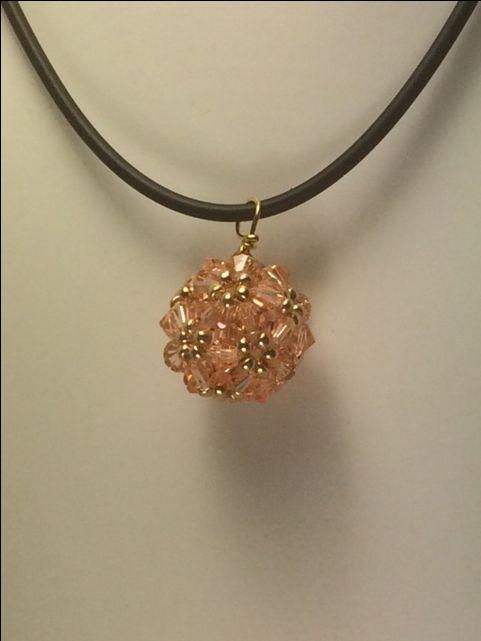 Zelkvova Beads  Hana-ami   pednat swarovski light orange $30