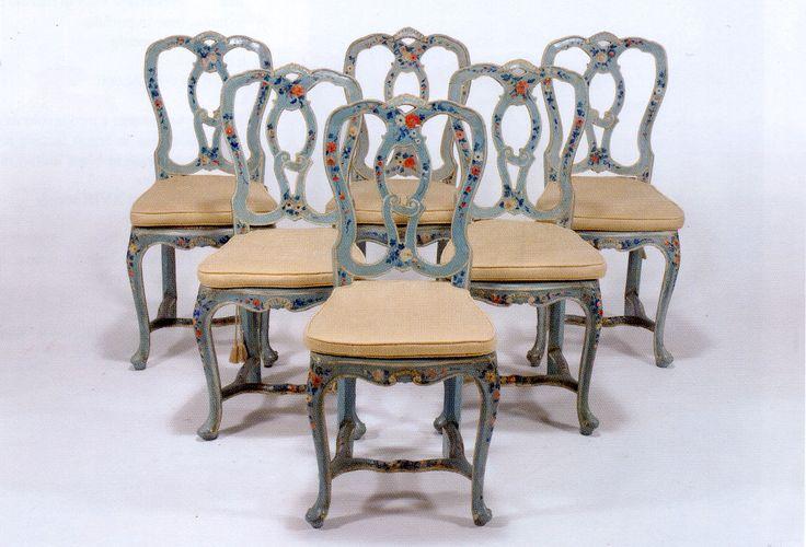 Fondi sedie ~ Sedie veneziane del rarissime e spiritose laccate a