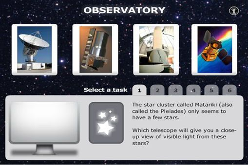 INTERACTIVE STUDENT ACTIVITY - Different telescopes detect different parts of the electromagnetic spectrum. Choose the best telescopes to obtain various images of space objects.
