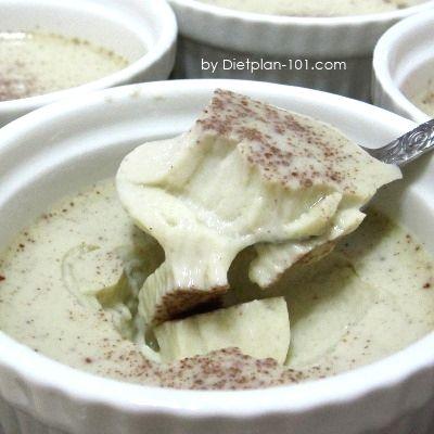 Steamed cinnamon coconut milk egg custard for atkins diet for Atkins cuisine bread