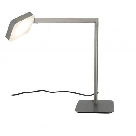 Laurie lumière luminaire lampe de bureau led finition nickel mat bras articulé et tête orientable