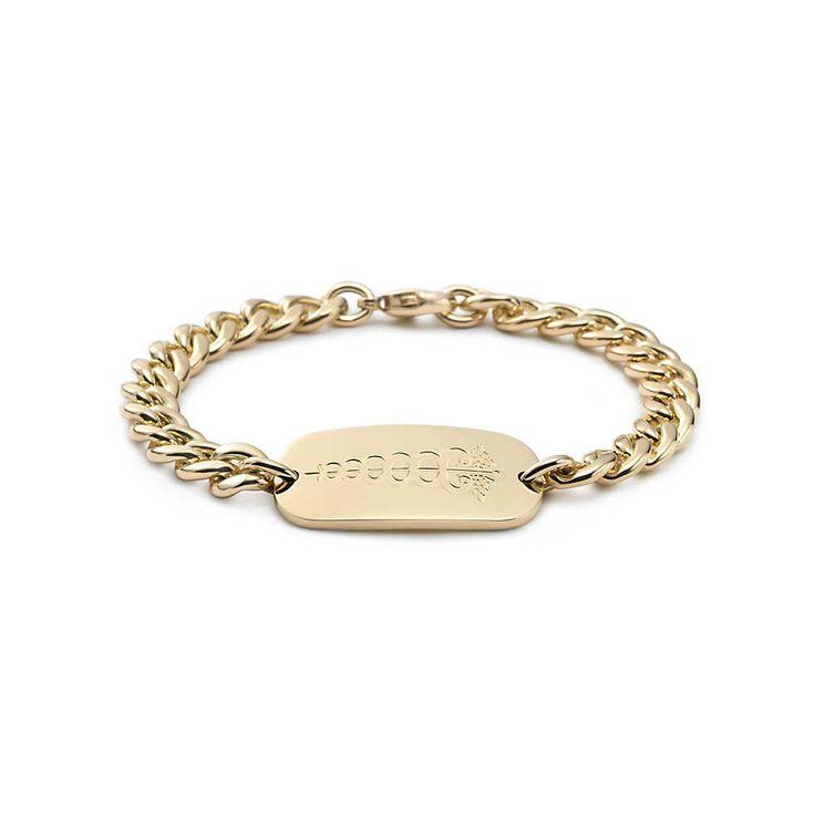 Bracelet d'identification médicale en or 18K. | Tiffany & Co.