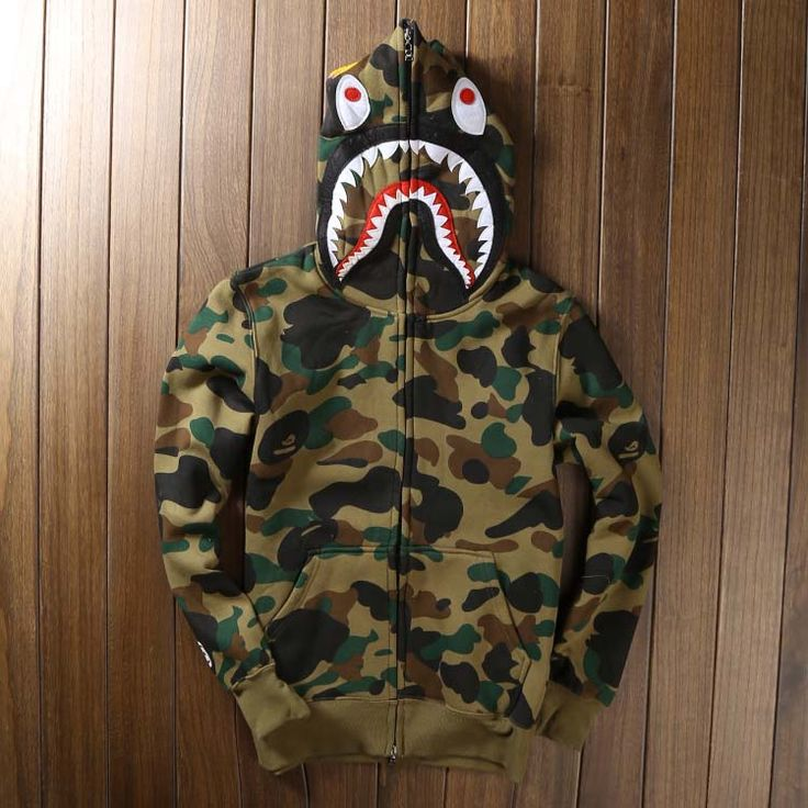 High quality Men's full zipper bape shark hoodie camouflage Army Military fleece hoodies and sweatshirts winter mens camo jacket-in Hoodies & Sweatshirts from Men's Clothing & Accessories on Aliexpress.com | Alibaba Group