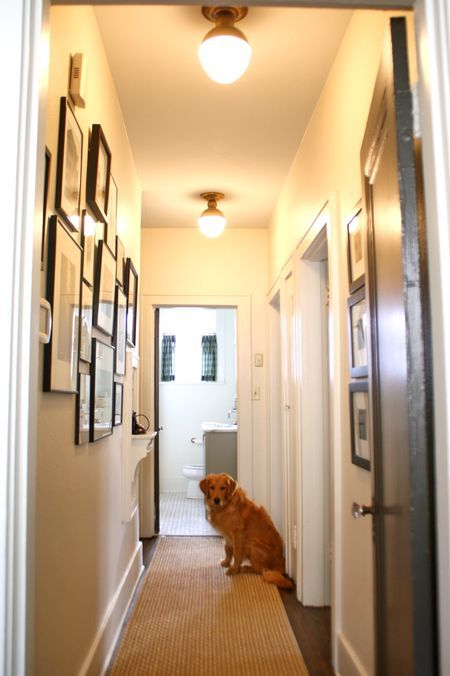 Wall Sconces For Narrow Hallway : narrow hallway gallery wall...lighting. wall gallery Pinterest Hallways, Runners and Lighting