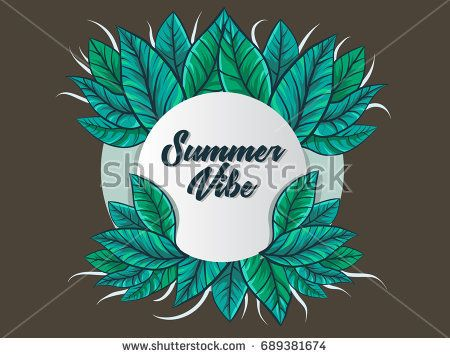 Summer Frame Vector background and banner idea