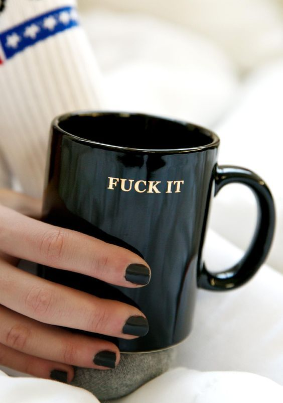 HUF Fuck it Coffee Mug mondays, tuesdays, wednesdays...anyday really just F THAT. Say what you are really feelin' in this baller…