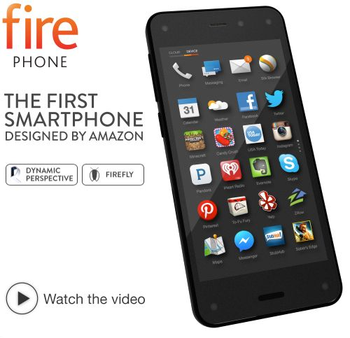 Amazon Fire Phone smart phone / Firefly technology Quickly identify printed web and email addresses, phone numbers, QR and bar codes, plus over 100 million items, including movies, TV episodes, songs, and products—simply press and hold the dedicated Firefly button to discover useful information and take action in secondsFire Phone Hardware more....http://haveheartdailyblog.tumblr.com/