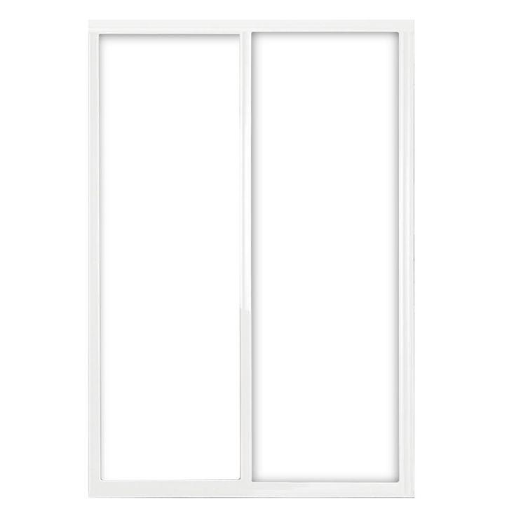 Contractors Wardrobe 60 in. x 81 in. Silhouette 1-Lite Mystique Glass White Frame Aluminum Sliding Door