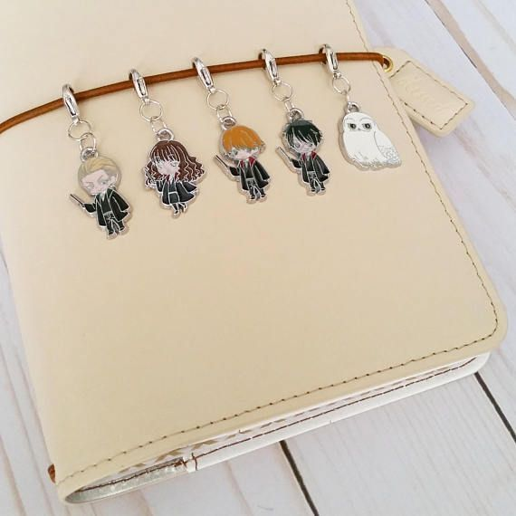 bracelet charm planner charm dangle travelers notebook charm wizard school planner accessories Tn charm Wizard Planner charm