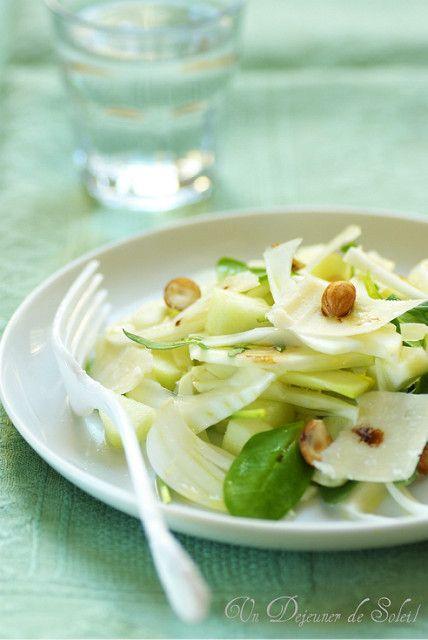Salade fenouil, poire et parmesan    Versione italiana più giù    Après vous avoir confié mes aventures et la vraie recette du panettone ,...