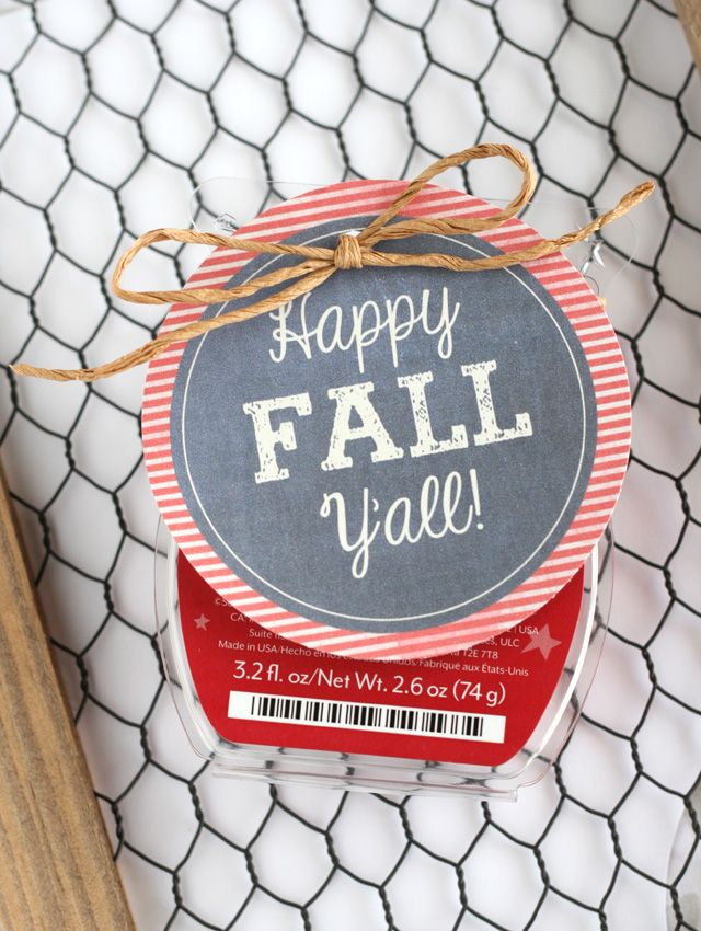 Printable Gift Tag to add to your favorite Fall scent or treat!